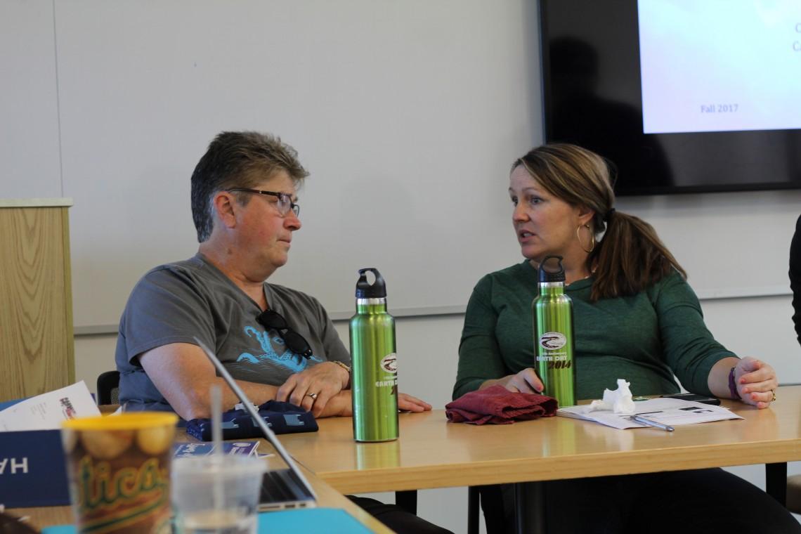 Pacifica Duo, Lynn Adams & Councilwoman Deirdre Flanagan Martine (photo: lisahunter)