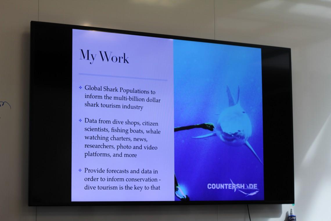 "Apryl DeLancey presentation ""Sharks and Climate Change"" (photo: lisahunter"